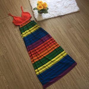 Rainbow 🌈 Maxi Dress